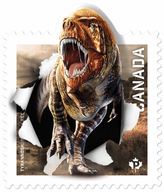 марки с динозаврами