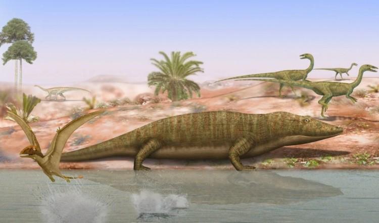 Мастодонзавр на суше