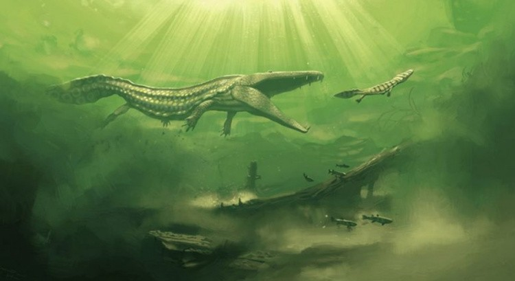Мастодонзавр в воде